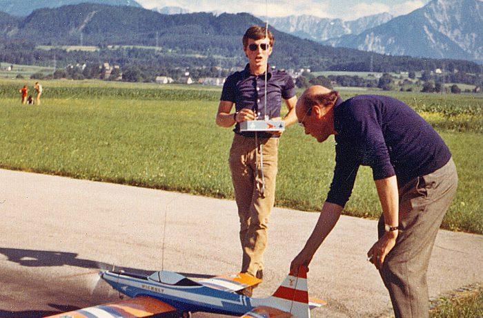 Hanno Prettner mit Vater